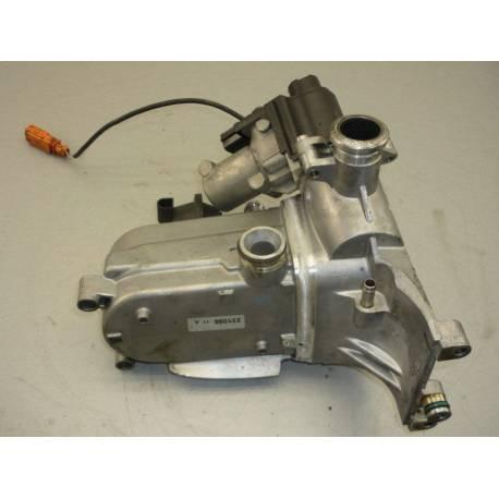 Refroidisseur pour recirculation des gaz d'échappement avec clapet / Vanne EGR pour Audi / VW ref 059131515CC