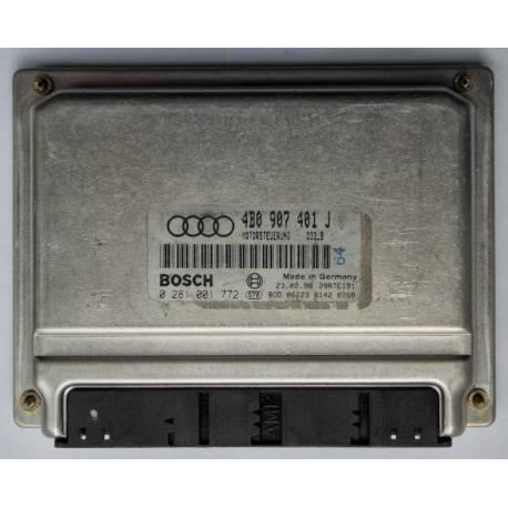 Calculateur moteur pour Audi A6 2L5 V6 TDI 150 cv moteur AFB ref 4B0907401J / 4B0907401AD / 4B0997401CX / Ref Bosch 0281001772