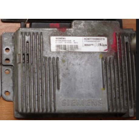 Calculateur moteur pour Renault ref Siemens HOM7700860319 / S105300103A