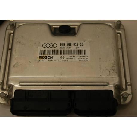 Engine control / unit ecu motor for Audi A4 1L9 TDI 100 cv ref 038906019GG / Ref Bosch 0281010813 / 0 281 010 813