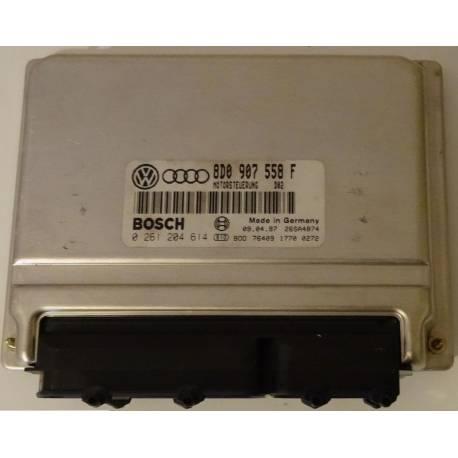 Calculateur moteur pour VW Passat 1L8 essence ADR ref 8D0907558F / Ref Bosch 0261 204614