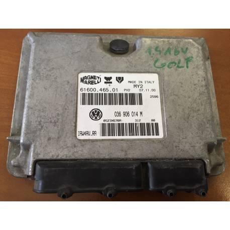 Calculateur moteur pour VW Golf 4 1L4 MPI moteur AKQ ref 036906014M / Ref Magneti Marelli 61600.465.01