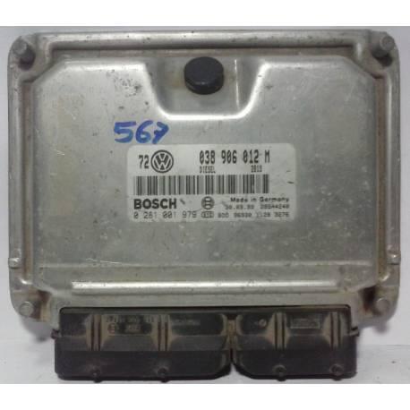 Calculateur moteur pour VW Golf 4 / Bora 1L9 TDI 90 cv ALH ref 038906012M / 038906012GK / ref bosch 0281001979