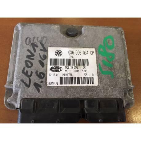 Engine control for Seat Leon 1 / Toledo 1L6 16v essence AZD ref 036906034CP / Ref Magneti Marelli 61600.635.02