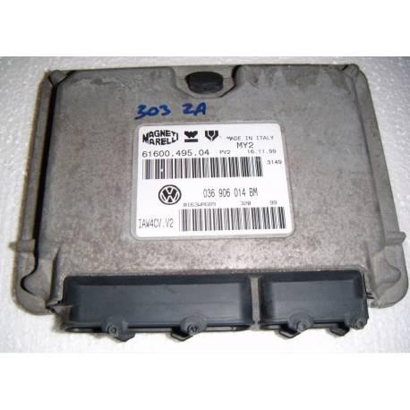 Calculateur moteur pour VW Polo 1L4 moteur AHW ref 036906014BM / Ref Magnetti Marelli 61600.495.04