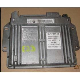 Calculateur moteur pour Renault Clio 1L2 ref SAFIR 2 8200024669