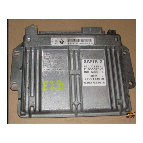Engine control / Unit Ecu motor for Renault Clio 1L2 ref SAFIR 2 8200024669