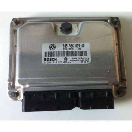 Calculateur moteur pour VW Polo 1L4 TDI 75 cv AMF ref 045906019AP / 0281010865 / 0 281 010 865