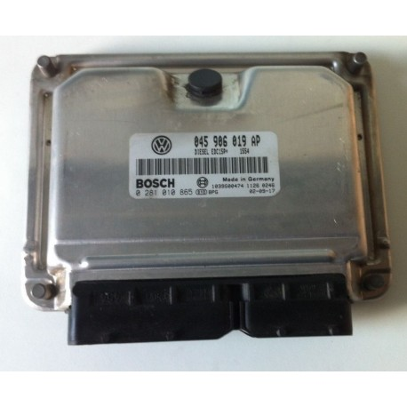 Engine control / Unit ecu motor for VW Polo 1L4 TDI 75 cv AMF ref 045906019AP / 0281010865 / 0 281 010 865