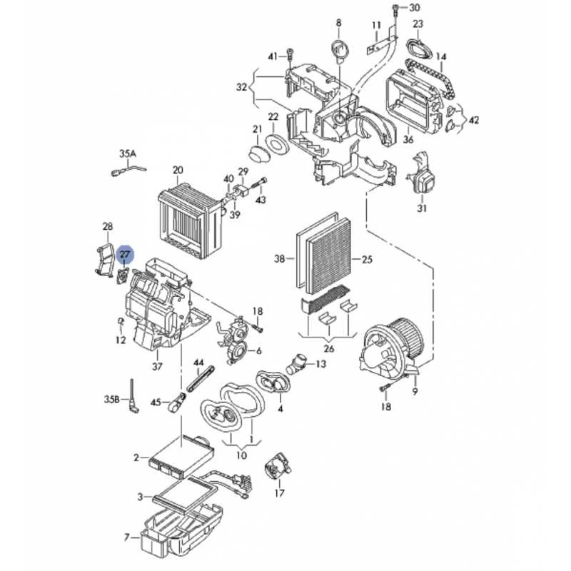 servomotor of temperature control flap for vw  seat  skoda