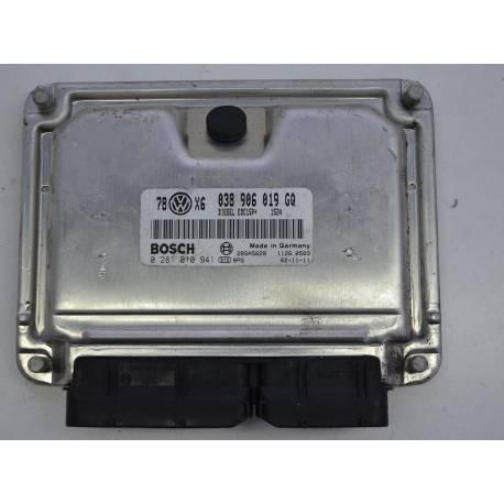 Calculateur moteur pour VW Passat 1L9 TDI 130 cv AVF ref 038906019GQ / 0281010941
