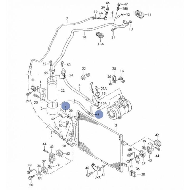 tuyau de climatisation  flexible de r u00e9frig u00e9rant ref 3b0260701b -