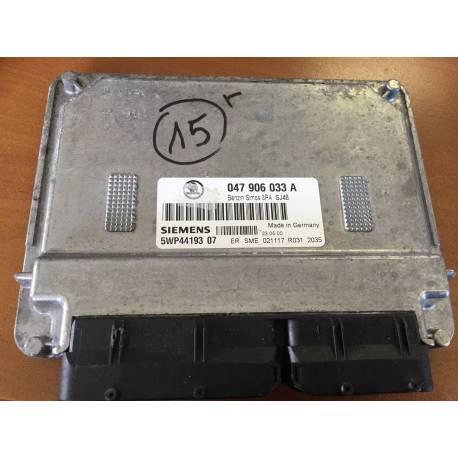 Control motor para Skoda Fabia 1L4 gasolina motor ATZ ref 047906033A / Ref Siemens 5WP44193 06