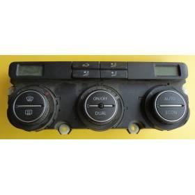 Unité de commande d'affichage pour climatiseur / Climatronic pour VW Passat 3C ref 1K0907044BH / 1K0907044BM