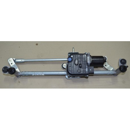 Windshield wiper bracket with wiper motor VW Golf VI Cabriolet Mitsuba A9961-399 ref 5K7955023 / 5K7955119