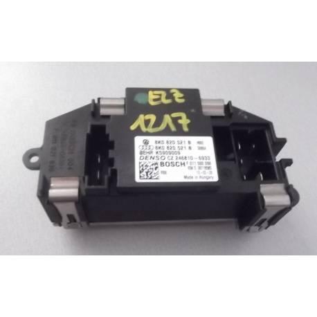 Résistance de pulseur d'air / Ventilation pour Audi A4 / A5 / Q5 ref 8K0820521 / 8K0820521B / Bosch F011 500 024