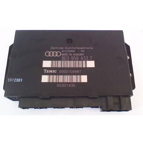 Boitier confort / Commande centralisée pour système confort ref 8E0959433Q / 8E0959433AA / 8E0959433T