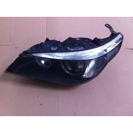 Phare optique projecteur Xenon avant conducteur pour  BMW E60 / E61 ref 158723-00