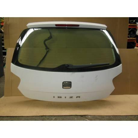 Malle arrière / Coffre coloris blanc LB9A pour Seat Ibiza 6J modèle 5 portes ref 6J4 827 024 / 6J4 827 024