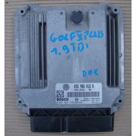 Calculateur moteur pour VW Golf 1L9 TDI ref 03G906016R / 0281012220