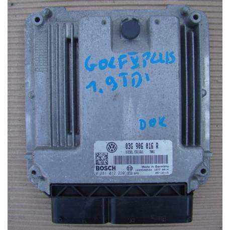 Control del motor para VW Golf 1L9 TDI ref 03G906016R / 0281012220