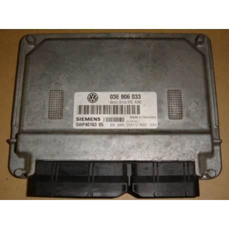 Calculateur moteur pour VW Polo 1L2 essence moteur AZQ ref 03E906033 / 5WP40163 05 / 5WP4016305