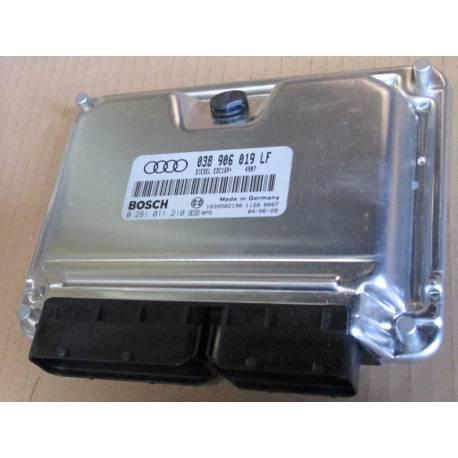 Calculateur moteur d'occasion pour Audi A4 B6 1L9 TDI ref 038906019LF / 0281011210