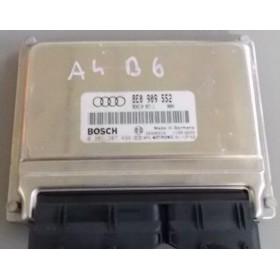 Calculateur moteur d'occasion pour Audi A4 B6 2L4 V6 essence BDV ref 8E0909552 / 8E0909552M / 0261207494 / 0261208038