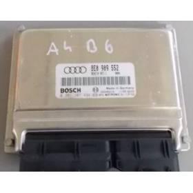 Calculateur moteur d'occasion pour Audi A4 B6 2L4 V6 essence BDV ref 8E0909552 / 8E0909552M / 0261207494 / 0261208038