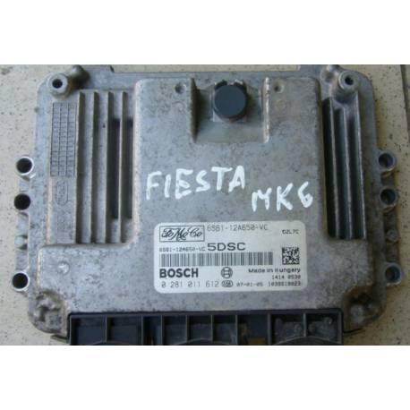 Injection engine control / unit ecu motor Ford Fiesta 1L6 TDCI ref 6S61-12A650-VC / 0281011612