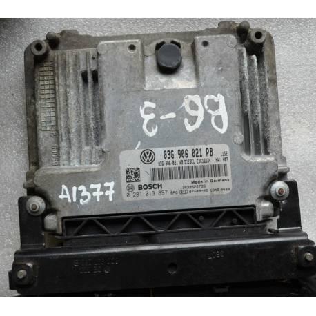 Calculateur moteur pour VW Passat 1L9 TDI 105 cv ref 03G906021PB / 0281013897