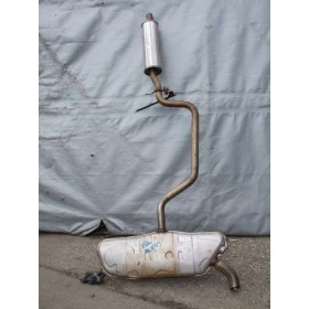 Exhaust line / Front silencer with rear silencer VW / AUDI / SEAT  TDI ref 1K6253611AH / 5K6253181BJ / 1K0253211AM