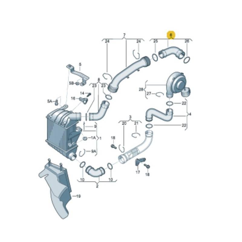 durite  flexible de pression pour 1l9 tdi 130 cv ref