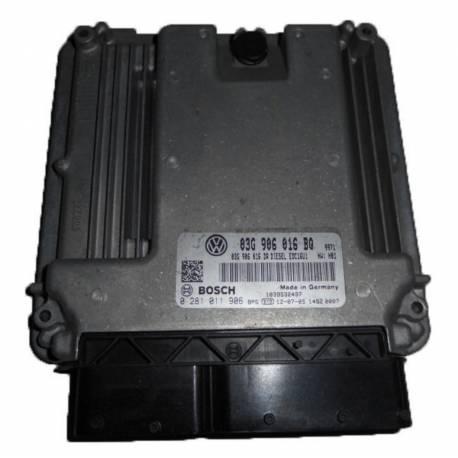 Calculateur moteur pour VW Touran 2L TDI ref 03G906016BQ / 0281011906