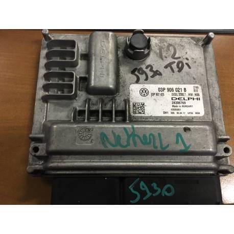 Calculateur moteur pour VW Polo 1L2 TDI ref 03P906021B / Delphi 28306769 / 03P907425