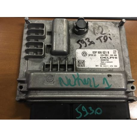 Engine control for VW Polo 1L2 TDI ref 03P906021B / Delphi 28306769 / 03P907425