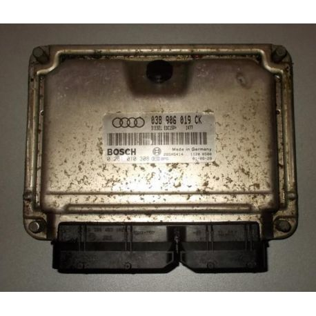 Calculateur moteur pour Audi A3 1L9 TDI 130 cv ASZ ref 038906019CK / 0281010308