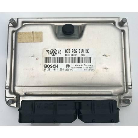 Calculateur moteur pour VW Passat / Superb 1L9 TDI 100 cv AVB ref 038906019KC / 0281011204