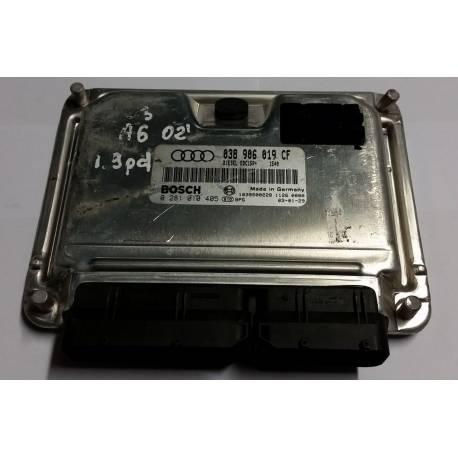 Calculateur moteur pour Audi A6 1L9 TDI 130 cv AWX ref 038906019CF / 038997019CX / Bosch 0281010405