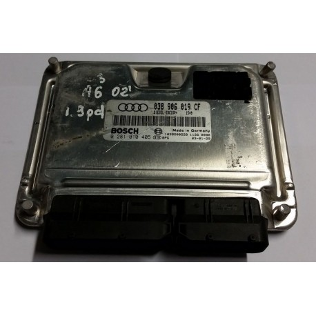 Engine control / unit ecu motor for Audi A6 1L9 TDI 130 cv AWX ref 038906019CF / 038997019CX / Bosch 0281010405