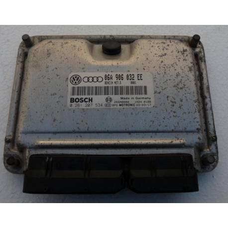 Calculateur d'injection moteur pour Audi A3 / Seat Leon / Toledo 1L8 essence ref 06A906032EE / 0261207534
