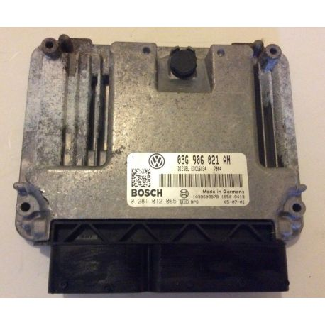 Engine control / unit ecu motor for VW Passat 1L9 TDI 105 cv ref 03G906021AN / 0281012085 / 03G990990A