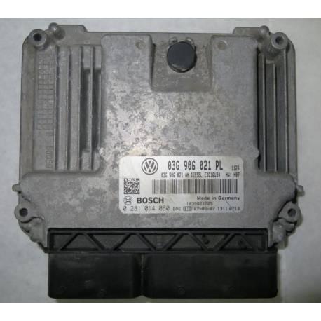 Calculateur moteur pour VW Golf 5 / Jetta 1L9 TDI 90 cv ref 03G906021PL / 0281014060