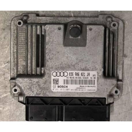 Calculateur moteur pour Audi A3 2L TDI 140 cv moteur BMM ref 03G906021JH / 03G997056RX / 0281013608