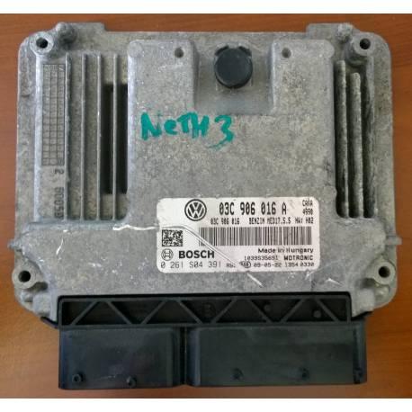 ecu computer motor engine for VW Golf / Golf Plus 1L4 TSI CAXA ref 03C906016A / Ref Bosch 0261S04391