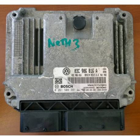 Calculateur moteur pour VW Golf / Golf Plus 1L4 TSI CAXA ref 03C906016A / Ref Bosch 0261S04391