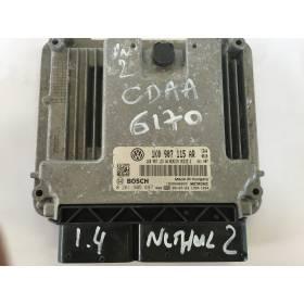Calculateur moteur pour VW Golf 1.8 TFSI 122 cv type CDA / CDAA ref 1K0907115AR / 1K0907115AA / 0261S05897