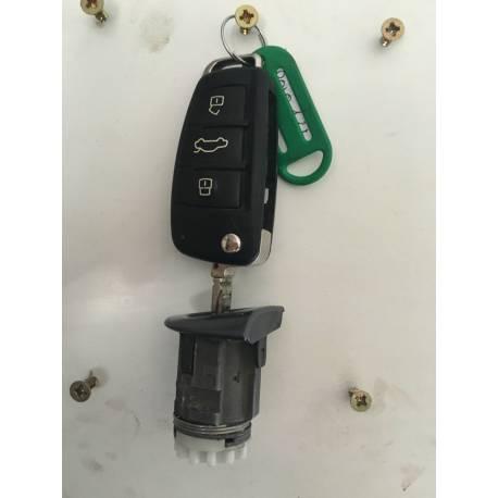 Serrure barillet de porte avant conducteur pour Audi A3 8P / A4 B7 ref 8E1837063CD / 107837063CD