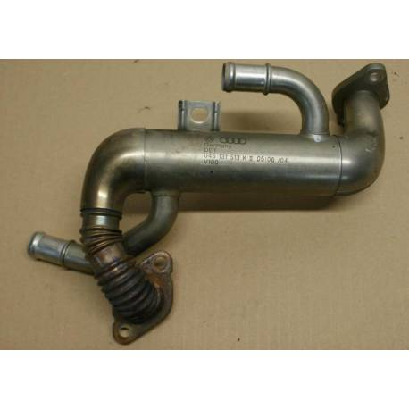 Cooler of exhaust gas with valve for Audi A2 1L4 TDI ref 045131513K
