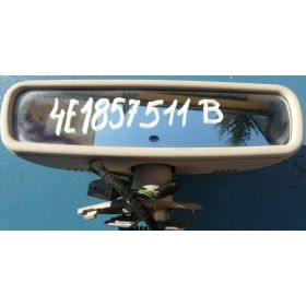 Rétroviseur interieur automatique jour / nuit coloris beige pour Audi A8 ref 4E1857511B 8J3